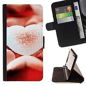 - Love Sugary Heart - - Monedero PU titular de la tarjeta de cr????dito de cuero cubierta de la caja de la bolsa FOR Samsung Galaxy S3 Mini I8190Samsung Galaxy S3 Mini I8190 RetroCandy
