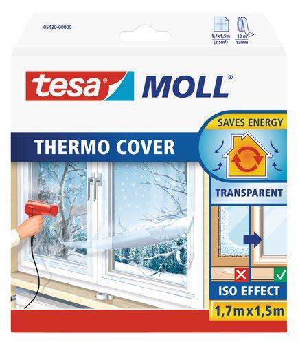 Tesa 05432 Pellicola Isolante per Vetri Singoli o Doppi per Risparmiare Energia, Trasparente, 4 x 1.5 m 05432-00000-01