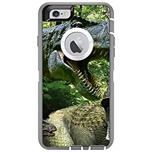 "CUSTOM Grey OtterBox Defender Series Case for Apple iPhone 6 PLUS (5.5"" Model) - T-Rex Dinosaurs Raptor"