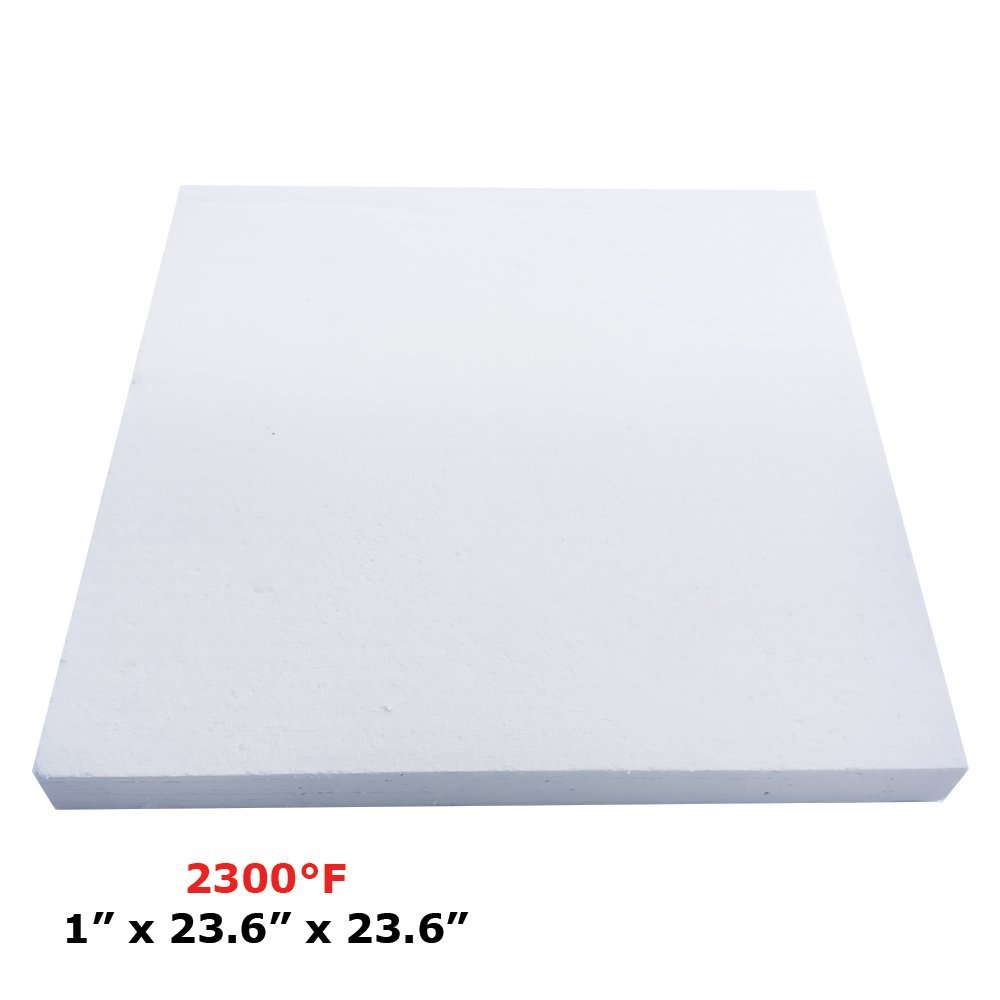 Thermal Insulation Board (2300F) (1'' x 23.6'' x 23.6) for Wood Ovens, Stoves, Forges, Kilns, Furnaces