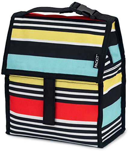 PackIt Freezable Lunch Bag with Zip Closure, Surf - Surf Stroller