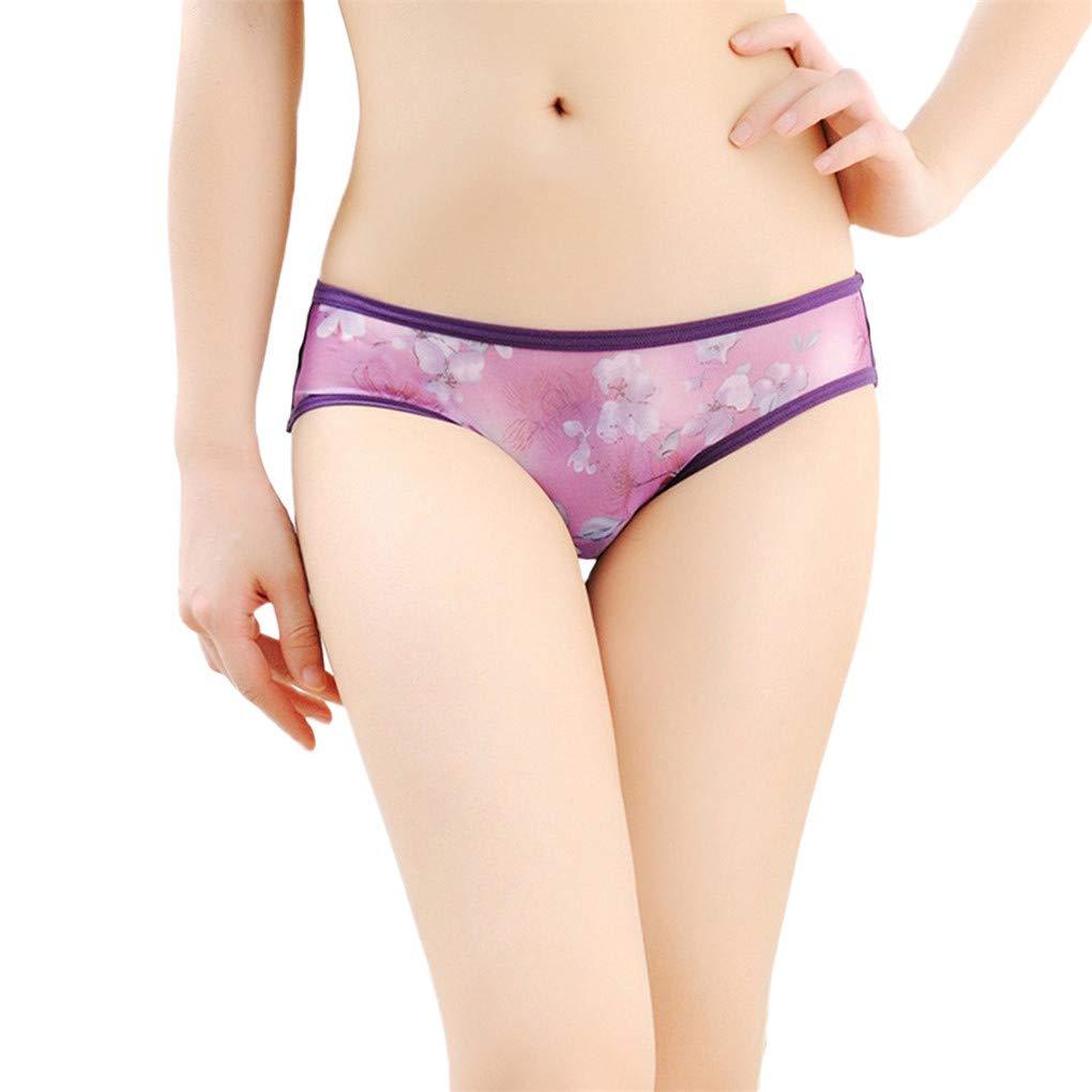 Women Breathable Briefs,WANQUIY Lingerie Mesh Underwear Thongs Hollow Perspective Lace Thongs G-String Sleepwear