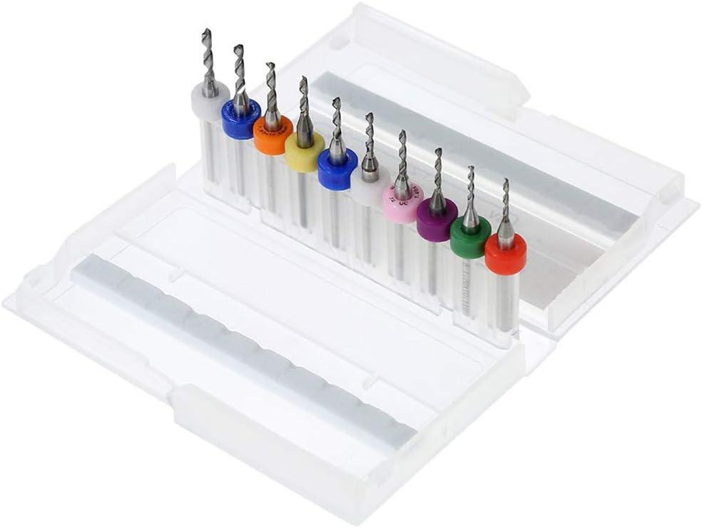 1.11-2mm Gcroet 1 Set M/étal Tungst/ène Acier M/èches Mini Gravure M/èches Micro Drill Pcb Imprimer Circuit Board Carbure Micro M/èches