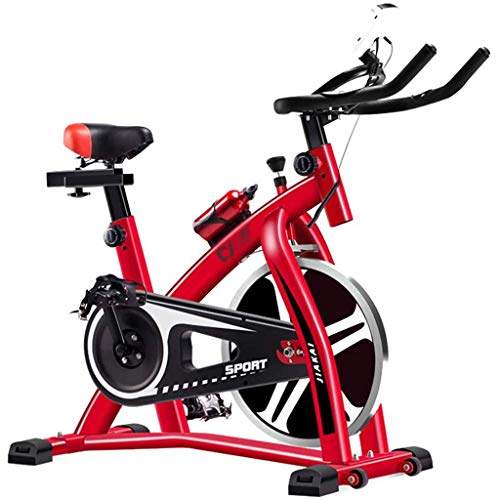 Fitness Exercise Bike Spinning Bicycle Equipment Home Ultra-Quiet Indoor Weight Loss Pedal Exercise Bike with Kettle Stand,Red