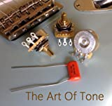 Lot of 3 (3X) CTS 450G Series 250K Vintage-style Split Shaft Audio Taper w/Orange Drop .022uf/400v cap for Fender Strat
