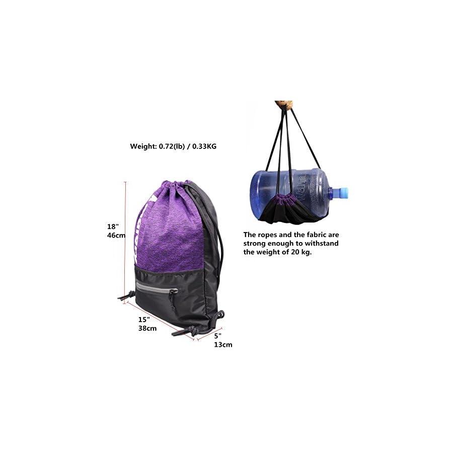 Drawstring Backpack Sports Athletic Cinch Sack Gymsack Sackpack Gym String Bag