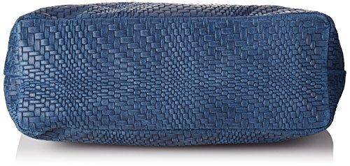 Chicca Borse 80059 - Bolsos bandolera Mujer Azul (Blu)