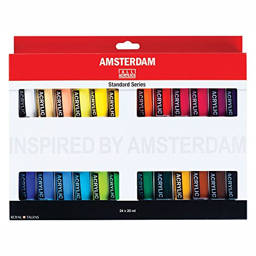 Amsterdam Royal Talens Acrylic Standard Tubes, 20ml-Tubes, Set of 24 (100516105)