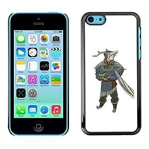 Estuche Cubierta Shell Smartphone estuche protector duro para el teléfono móvil Caso Apple Iphone 5C / CECELL Phone case / / Gnome Dwarf Forest Fairy Fairy Tale Art /