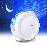 WIFI Projector Night Light, ALED LIGHT Upgraded Smart LED Projection Light Stars Water Wave Moon 3in1 Starry Sky Home…