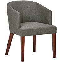 Rivet Alfred Mid-Century Wide Curved Back Accent Dining Chair, 25.2 W, Ash Grey