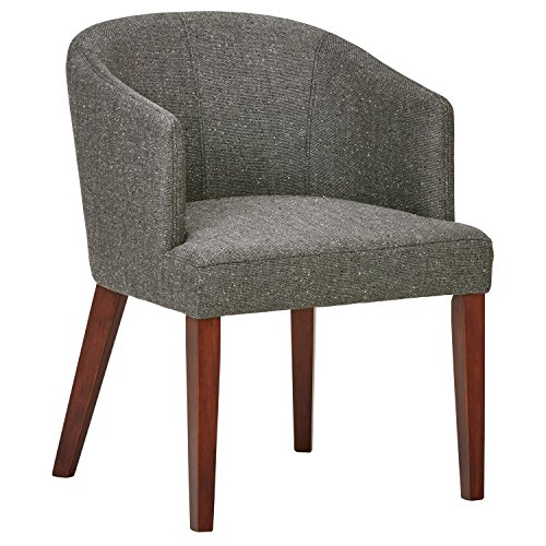 Rivet Alfred Mid-Century Modern Wide Curved Back Accent Kitchen Dining Room Chair, 25.2