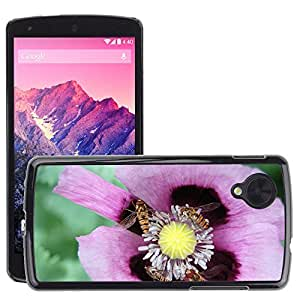 Super Stella Slim PC Hard Case Cover Skin Armor Shell Protection // M00145707 Flower Lilac Hoverfly Insects Violet // LG Nexus 5