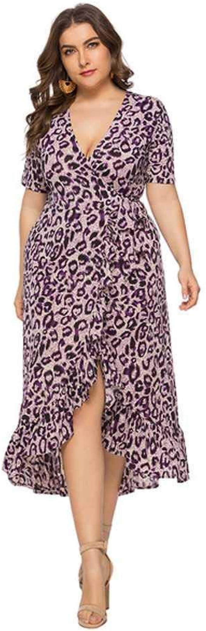 Vestido de Mujer Estampado de Leopardo