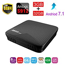 ESHOWEE M8S PRO Android 7.1 TV Box Amlogic S912 Octa-core DDR4 3GB 32GB BT4.1 2.4/5 Dual-Band WiFi 4K UHD