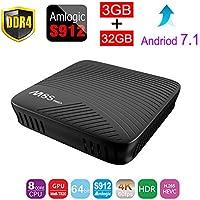 KINUT M8S PRO Android 7.1 TV Box Amlogic S912 DDR4 3GB 32GB BT4.1 2.4/5 Dual-Band WiFi 4K UHD