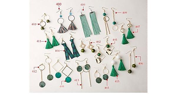 6d2d38398b296 Amazon.com : Alice meets minimalist handmade earrings variety of ...
