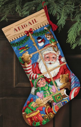 Dimensions Gold Collection Santa's Toys Stocking Counted Cross Stitch K-16 Long