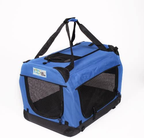 GoGo Pet 3-Door Soft Dog Crate, XXSmall 19.5 L x 13.5 W x 13.75 H, Royal Blue