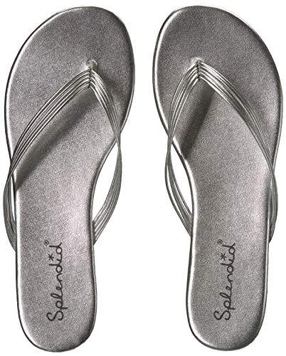 Metallic Strappy Flip Flop Sandal - Splendid Women's Shyanne Flip-Flop, Silver/Metallic, 7.5 M US