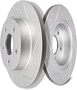 2005 2006 2007 Chevy Cobalt Slotted Drilled Rotors Ceramic Pads R