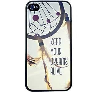 Mall&SM Nueva Keep Your Dreams Alive Cita Plástico Cubierta Estuche Rígido Carcasas Funda Para iPhone 5C Enviado con seguimiento Nº & un regalo gratis