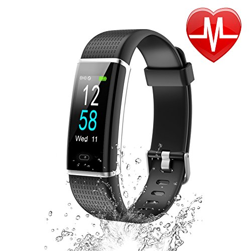 Letsfit Fitness Tracker Color Screen, Waterproof Activity Tracker with...