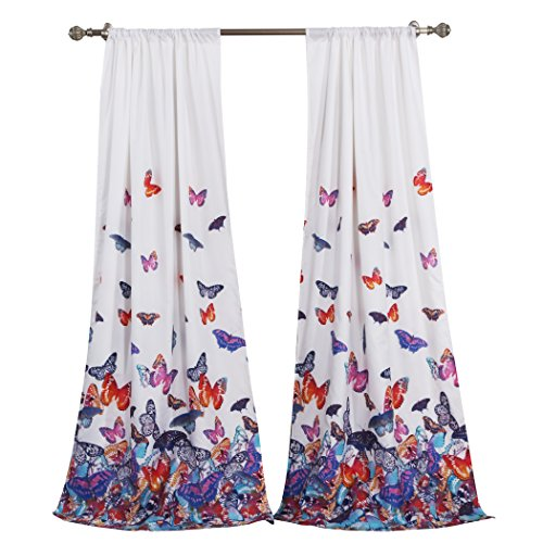 Barefoot Bungalow Mariposa Window Curtain Panel Pair with Ti