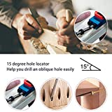 14Pcs Pocket Hole Jig Kit, 15 Degree Woodworking