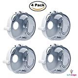 iLife Designs [4 Pack] Gas Stove Knob Covers, Child Toddler Baby Safety Lock Protection Covers for Oven Range Grill Knob, Removable Reusable Clear Design - 2018 Upgraded