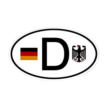 Cafepress german d flag and eagle oval sticker oval bumper sticker euro oval