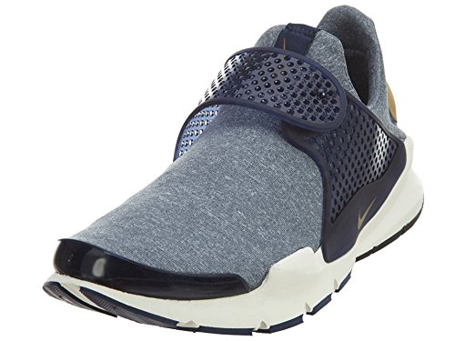 Nike Women's Sock Dart SE Midnight Navy/Golden Beige Running Shoe 7 Women US (Nike Laceless Shoes)