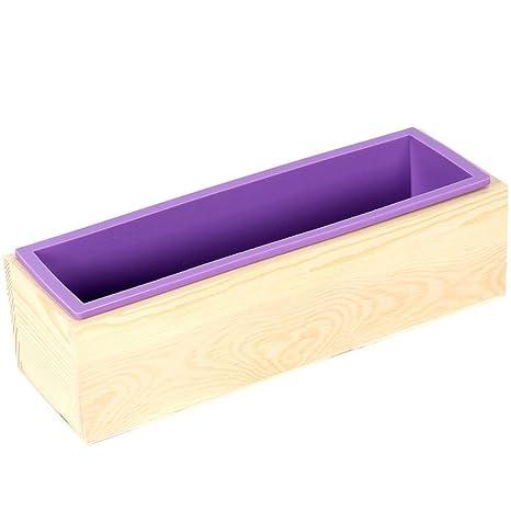 Magic Show para hacer jabón moldes de silicona (con herramientas de caja de madera para