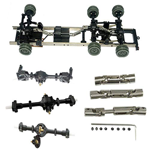 - Hisoul Hot  for WPL B-16 B-36 1/16 6WD RC Car Upgrade Metal Gear Sturdy Front +Central +Rear Axle with 3 Universal Drive Shaft (♥ A)