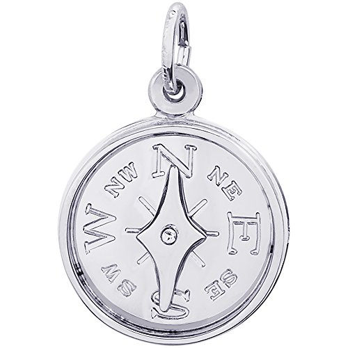 (Rembrandt Charms 14K White Gold Compass Charm (16 x 16 mm))