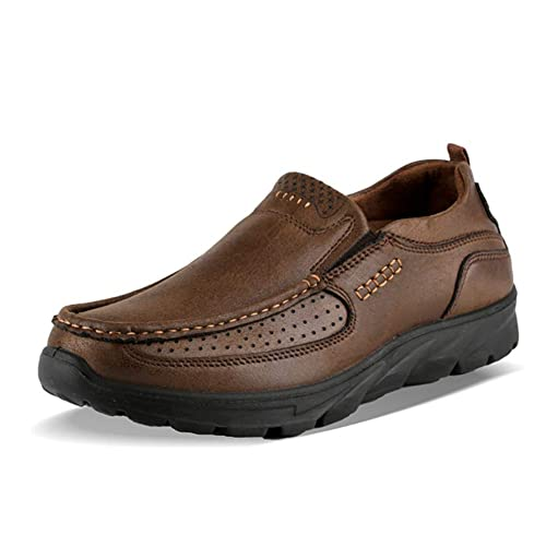 Gtagain Zapatos Cuero Mocasines Cómodos Hombre - Trabajo Diario Cordones Casuales Planos Shoes Conducción Negocios Oficina: Amazon.es: Zapatos y ...