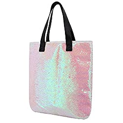 Two Tone Reversible Sequin Tote Bag
