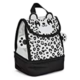 Childrens Snow Leopard Insulated Lunch Bags - Available in Lots of Cute Animals - for Ages 3-7 - Animal Lunch Bags by Zappi Co (Snow Leopard)