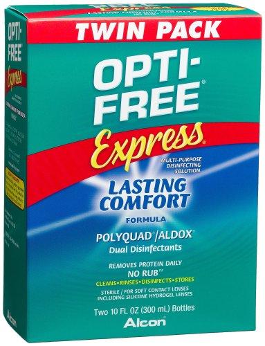 Opti-Free express polyvalents solution désinfectante, 2-Count, bouteilles de 10 onces