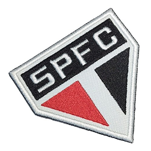 TSP117 São Paulo Brazil Brazilian Shield Football Soccer Embroidered Patch Iron or Sew 3.9 x 3.5 x 0.1 inches - Soccer Ball Embroidered Iron