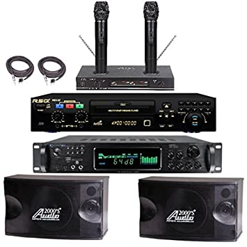 Best Professional Karaoke System Bluetooth Equipment Wireless Mics Complete