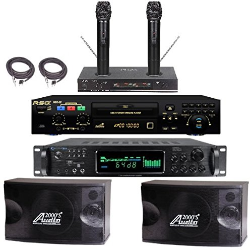 Best Professional Karaoke System Bluetooth Equipment Wireless Mics