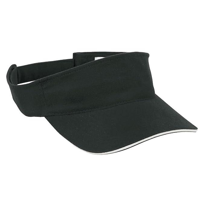 SPORTS SUN VISOR SANDWICH PEAK GOLF TENNIS CAP HAT - 12 COLOURS (MB6123)  (BLACK   WHITE)  Amazon.co.uk  Clothing 7fd7d7f809f3