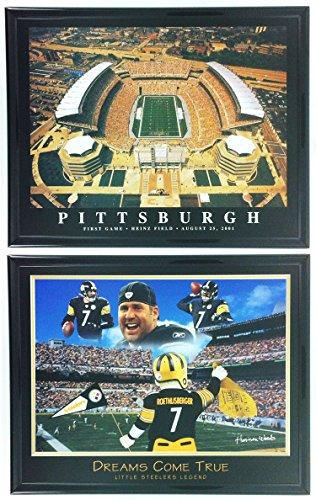 Pittsburgh Steelers Heinz Field Framed - Pittsburgh Steelers Framed Prints with Heinz Field Aerial Set of 2 LL5009