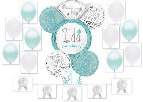 Robin's Egg Blue I DO Wedding Ring 20pc Bridal Shower Engagement Party Pack