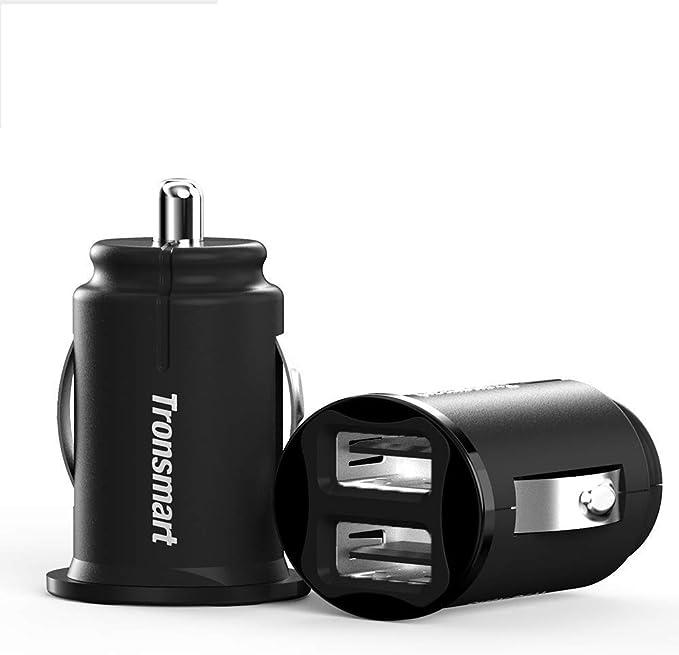80 opinioni per Caricabatteria da Auto, 2 Pack Tronsmart C24 Car Charger Dual Porta USB 4.8A/24W