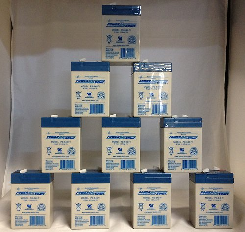 6V 4.5Ah PS-640, PS640F1, UB645 Replacement SLA Battery NEW! - 10 Pack