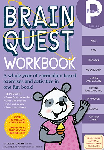 Brain Quest Pre-K Workbook [With Stickers] by Liane Onish (9-Jul-2008) Paperback (Brain Quest Pre K Workbook compare prices)