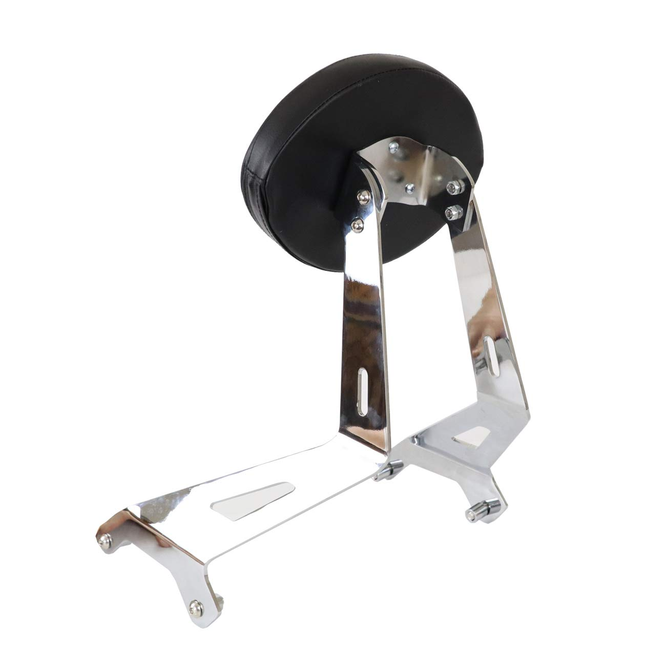 AUFER Fixed Mount Short BACKREST Upright and Custom PAD for Yamaha Star Stryker 2011-2017 27D-F84A0-S0-00,Chrome