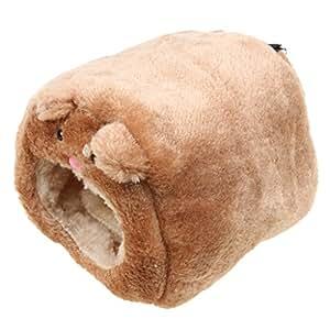 MagiDeal Plush Hammock for Ferret Rabbit Rat Hamster Warm Hanging Bed BEAR Toy House